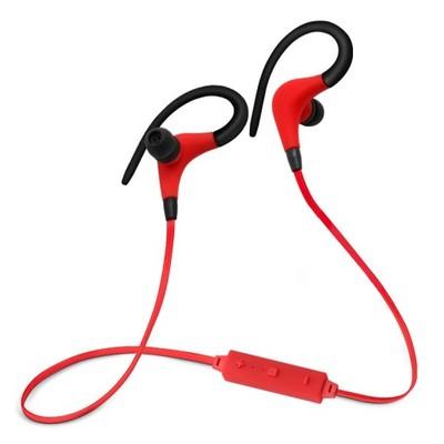słuchawki do biegania bezprzewodowe czerwone