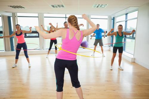 hula hop ćwiczenia fitness